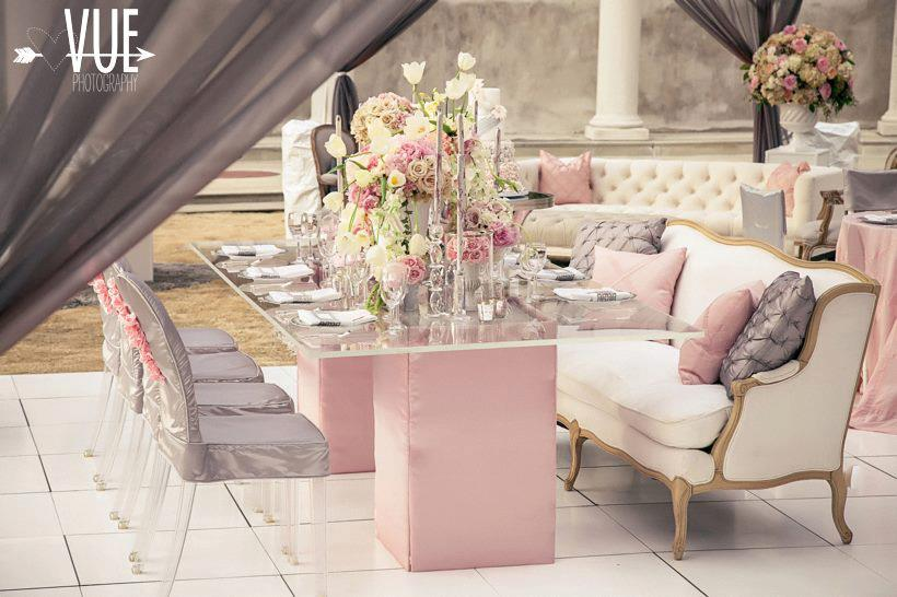 Wedding Inspiration: Pink and Grey | Save the Date Wedding & Event ...